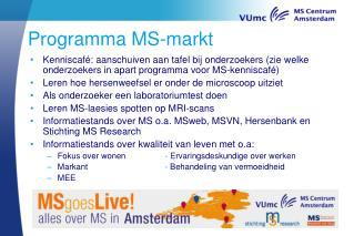 Programma MS-markt