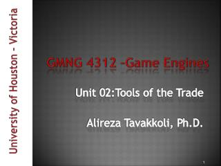GMNG 4312 �Game Engines