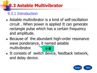 9.3 Astable Multivibrator