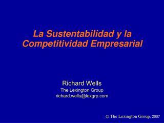 La Sustentabilidad y la Competitividad Empresarial