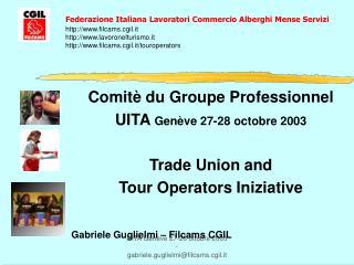 Comitè du Groupe Professionnel UITA  Genève 27-28 octobre 2003 Trade Union and