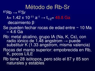 Método de Rb-Sr