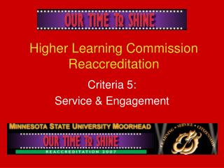 Higher Learning Commission Reaccreditation
