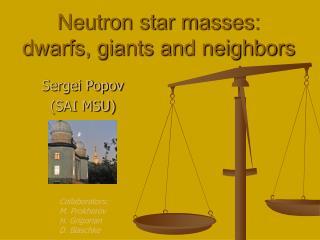 Neutron star masses:  dwarfs, giants and neighbors