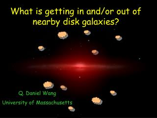 What is getting in and/or out of  nearby disk galaxies?