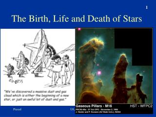 The Birth, Life and Death of Stars