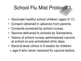 School Flu Mist Protocol