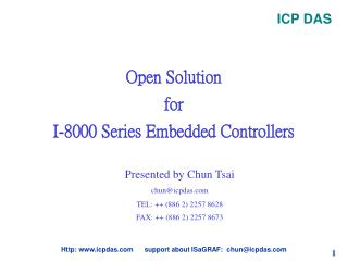 Open Solution  for I-8000 Series Embedded Controllers