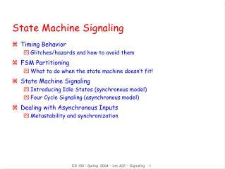 State Machine Signaling