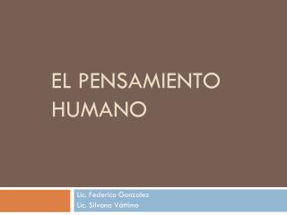 El pensamiento humano