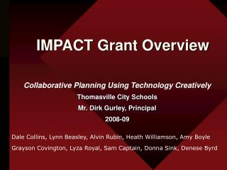IMPACT Grant Overview