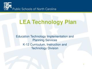 LEA Technology Plan