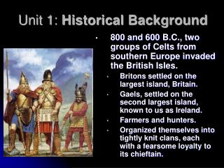 Unit 1:  Historical Background