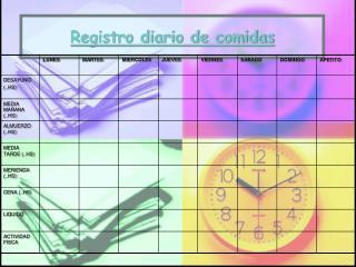 Registro diario de comidas