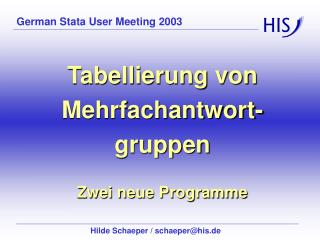 German Stata User Meeting 2003