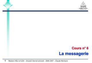 Cours n° 6 La messagerie
