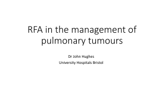 SURGICAL MANAGEMENT OF PULMONARY METASTASES