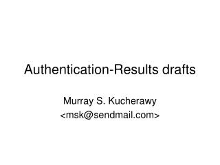 Authentication-Results drafts