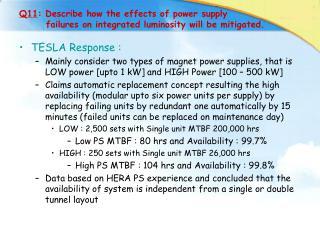 TESLA Response :