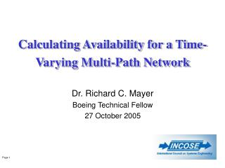 Calculating Availability for a Time-Varying Multi-Path Network