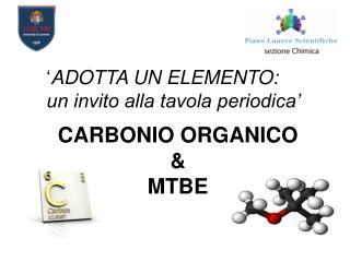 CARBONIO ORGANICO & MTBE