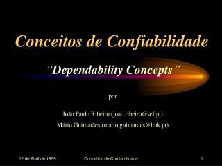 Conceitos de Confiabilidade