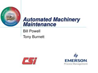 Automated Machinery Maintenance