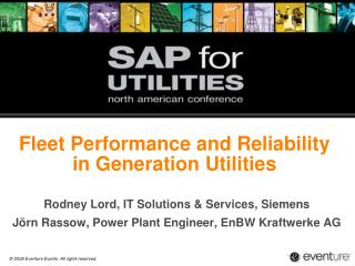 Fleet Performance and Reliability  in Generation Utilities