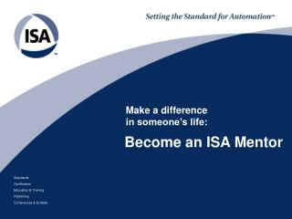 Become an ISA Mentor