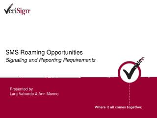 SMS Roaming Opportunities Signaling and Reporting Requirements