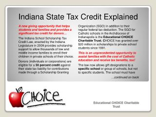 Indiana State Tax Credit Explained