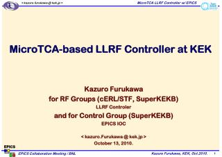 MicroTCA-based LLRF Controller at KEK