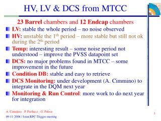 HV, LV & DCS from MTCC