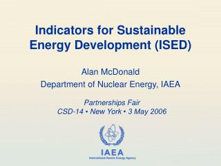 Indicators for Sustainable Energy Development (ISED)