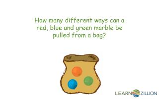 How many different ways can a red, blue and green marble be pulled from a bag?