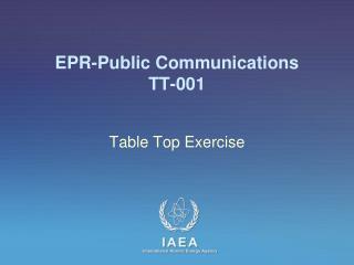 EPR-Public Communications TT-001