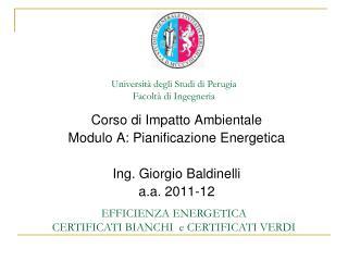 Universit� degli Studi di Perugia Facolt� di Ingegneria