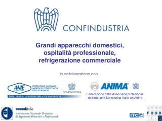 Grandi apparecchi domestici,  ospitalità professionale,  refrigerazione commerciale