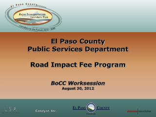 El Paso County  Public Services Department Road Impact Fee Program