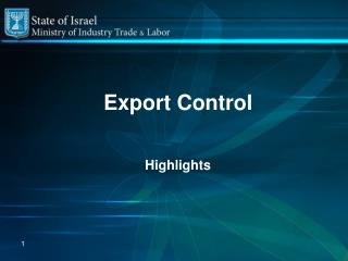 Export Control Highlights