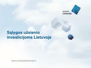 S ąlygos užsienio investicijoms Lietuvoje