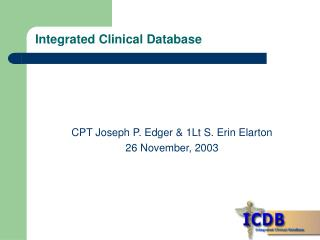 Integrated Clinical Database