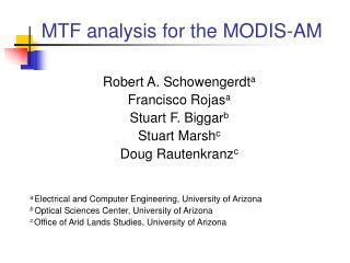 MTF analysis for the MODIS-AM