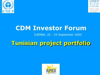 Tunisian project portfolio