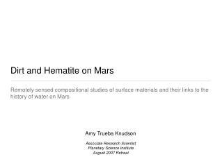 Dirt and Hematite on Mars