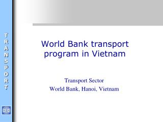 World Bank transport program in Vietnam