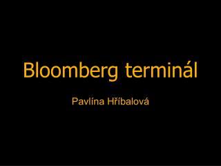 Bloomberg terminál