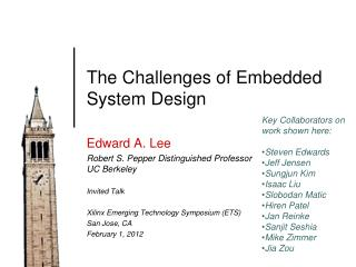 The Challenges of Embedded System Design