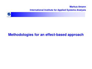 Methodologies for an effect-based approach