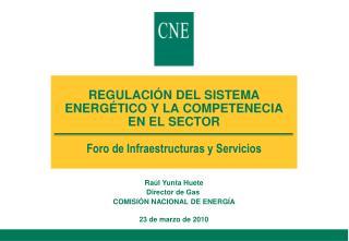 Raúl Yunta Huete Director de Gas  COMISIÓN NACIONAL DE ENERGÍA